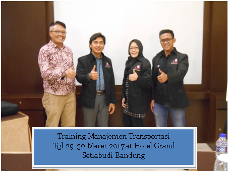 training man transportasi tgl 29-30 maret 2017
