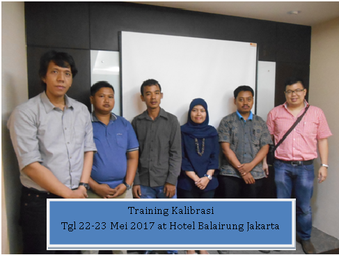 Training kalibrasi tgl 22-23 mei 2017